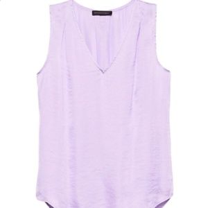 NWT Banana Republic Satin Tank Purple (Sz S)
